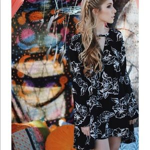 Free People Floral Foil Tunic
